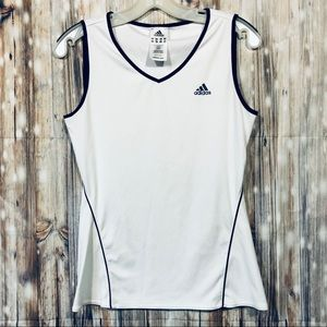 NWOT Nike White and Navy V-neck Tank Size Medium